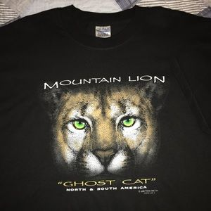 "Vintage '99 Mountain Lion ""Ghost Cat"" T-shirt"